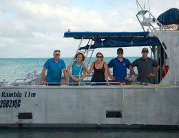 RV Linkia II taking some of the team from One Tree to Heron Island 2014